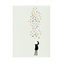 Print Monsieur under the Rain Blanca Gomez