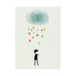 Affiche Monsieur I pluie Blanca Gomez