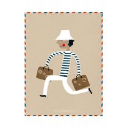 Print Le Voyageur Blanca Gomez