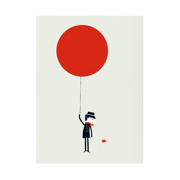 Affiche Monsieur III ballon rouge Blanca Gomez