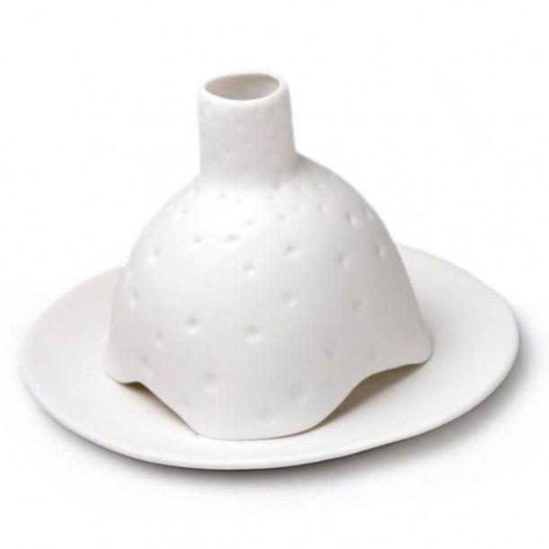 Igloo Studded Matt Porcelain Candleholder TséTsé