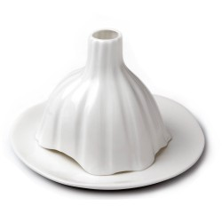 Igloo Striped Glazed Porcelain Candleholder TséTsé