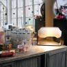 Polar Boreal Lamp with Leg in Black Plywood Tsé-Tsé