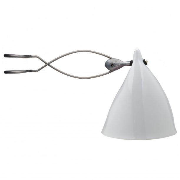 Clip On Cornette Lamp White Glazed Porcelain Tsé & Tsé