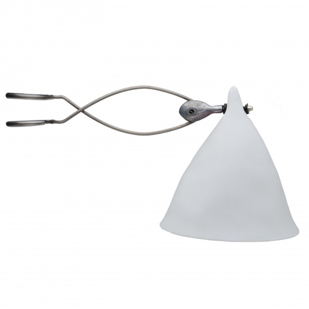 Lampe Cornette à Pincer Porcelaine Mate