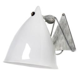 Wall Lamp Cornette White Glazed Porcelain Tsé & Tsé
