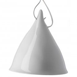 Grande Lampe Cornette Porcelaine blanc Brillant Tsé & Tsé