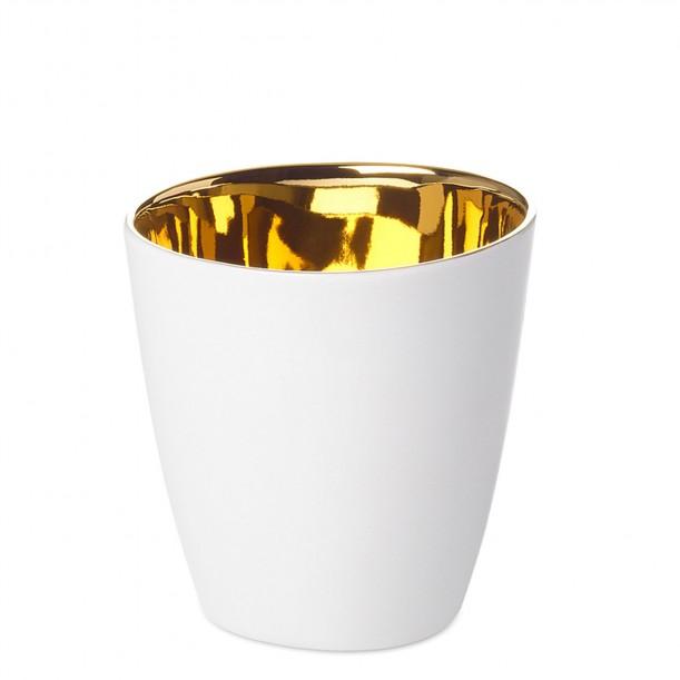 Expresso Cup Assoiffée Porcelain Glossy White and Gold Diam 5 cm Tsé & Tsé