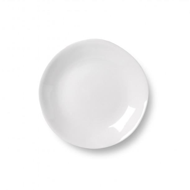 Saucer Affamée Porcelain Glossy White Diam 13 cm Tsé & Tsé