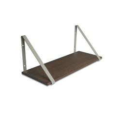 Design Shelf Dark Oak 60 x 24 cm with grey metal brackets Archiv Collection