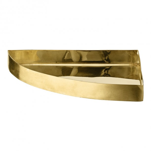 Quarter Circle Tray Unity Brass 16,5 x 16,5 cm AYTM
