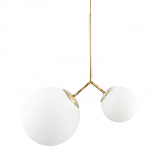 Lampe Suspension Opal Twice Blanche Diam 26 & 15 cm House Doctor