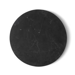 Tablette Marbre Noir Wire Diam 23 cm pour Support Wire Menu
