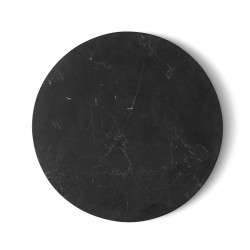 Wire Table Top Black Marble Diam 23 cm for Base Wire Menu