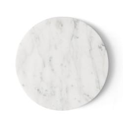 Tablette Marbre Blanc Wire Diam 23 cm pour Support Wire Menu