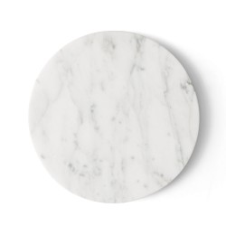 Wire Table Top White Marble Diam 23 cm for Base Wire Menu