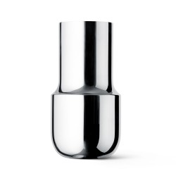 Vase Tactile Tall Stainless steel H 22 Diam 11,5 cm Menu