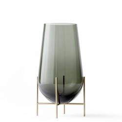Vase Echasse Medium Glass and Brass H 45 Diam 22 cm Menu