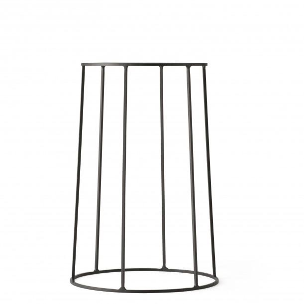 Support Wire 404 Noir H 40 cm pour Lampe à huile - Pot - Tablette Menu
