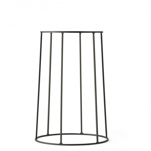 Wire Base 404 Black H 40 cm for Oil lamp - Flowerpot - Marble top Menu
