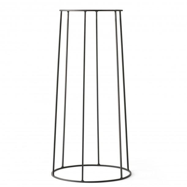 Support Wire 606 Noir H 60 cm pour Lampe à huile - Pot - Tablette Menu