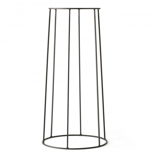 Wire Base 606 Black H 60 cm for Oil lamp - Flowerpot - Marble top Menu