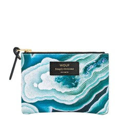 Pouch Blue Mineral Small 13 x 11 x 2 cm WOUF