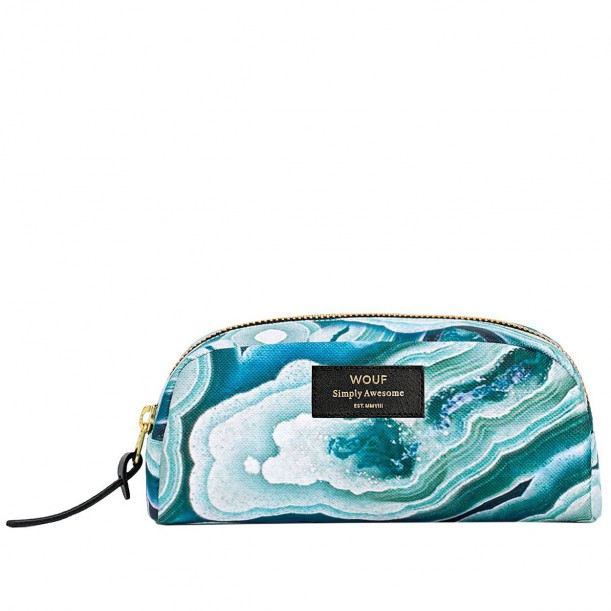 Cosmetic Bag Blue Mineral 18,5 x 9 x 6,5 cm WOUF