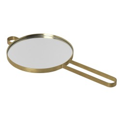 Poise Hand Mirror Brass Ferm Living