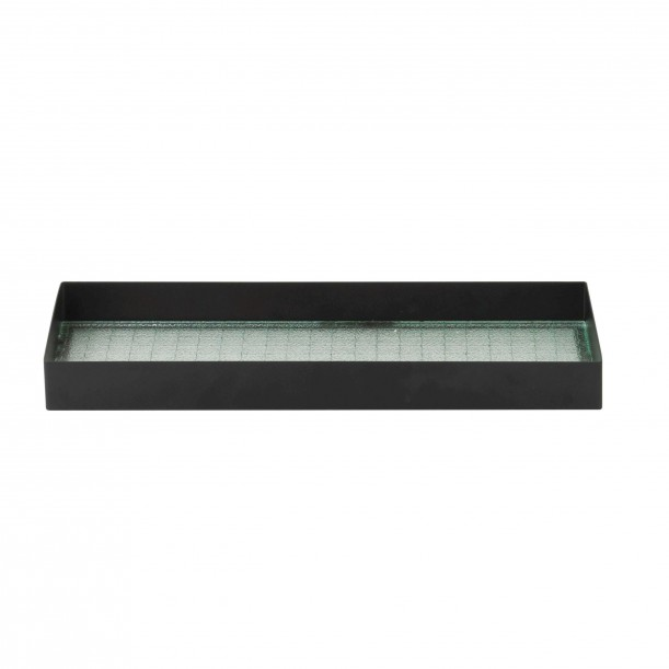Haze Tray Small Wired Glass and Black Metal L 33 x 12 cm Ferm Living