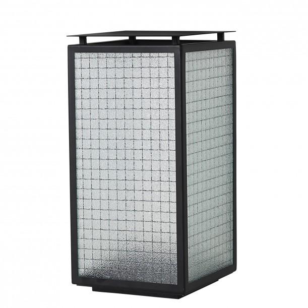 Haze Lantern Wired Glass and Metal H 33 x 16,5 cm Ferm Living