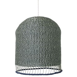 Braided Pendant Tall Green Diam 28 cm Ferm Living