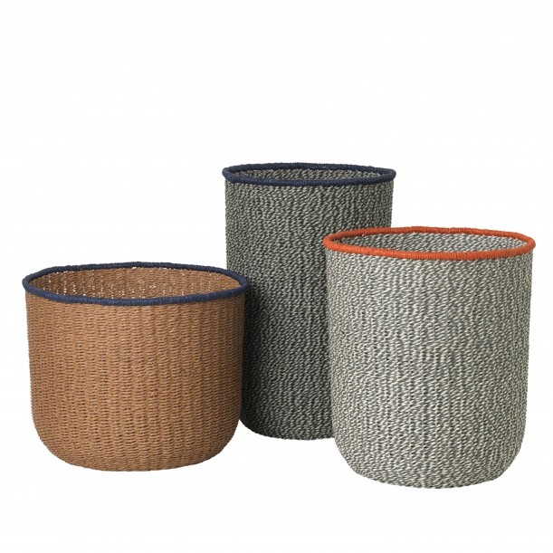 Braided Baskets Set of 3 Diam 31-34-38 cm Ferm Living