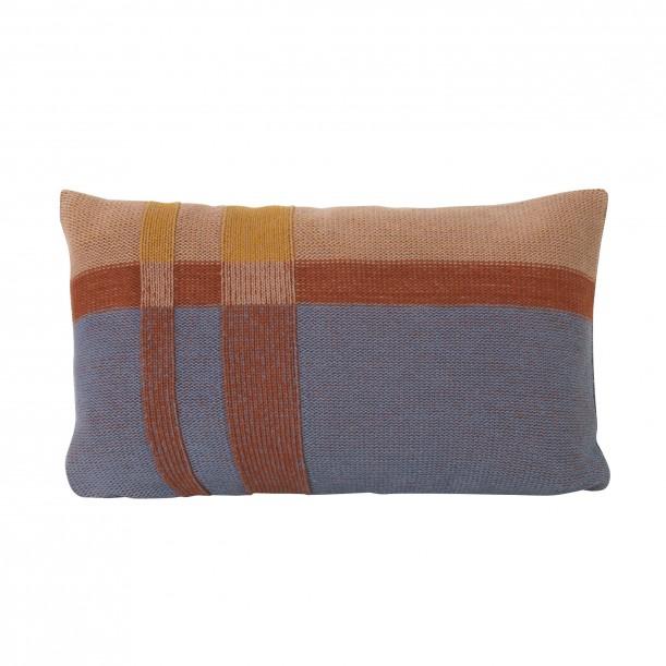 Medley Knit Cushion Dusty Blue Small 40 x 25 cm Ferm Living