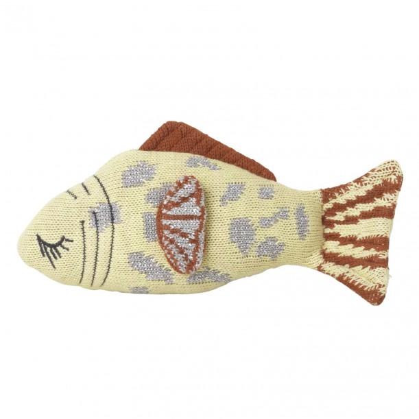 Fruiticana Cushion Leopard Fish Rattle 21 x 11 cm Ferm Living