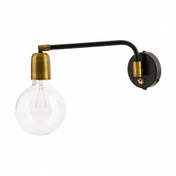 Wall Lamp Molecular Black and Brass House Doctor