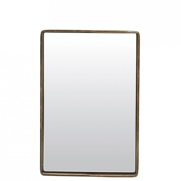 Rectangular Mirror with Brass Edge Reflection 20 x 30 cm House Doctor