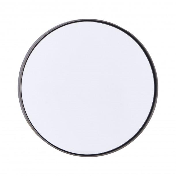 Miroir Rond Reflection Bord Noir Patiné Diam 30 cm House Doctor