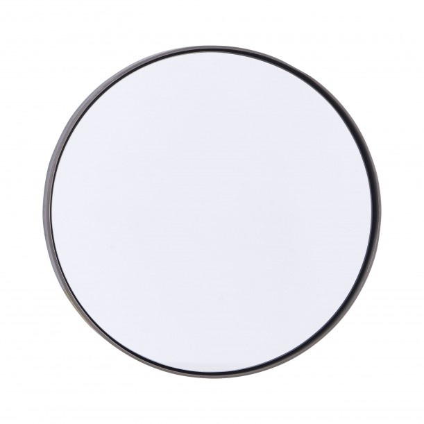 Round Mirror with Black Edge Reflection diam 30 cm House Doctor
