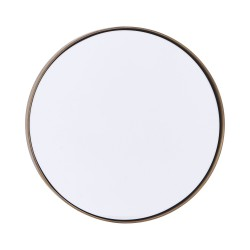 Miroir Rond Reflection Bord Laiton Patiné Diam 30 cm House Doctor
