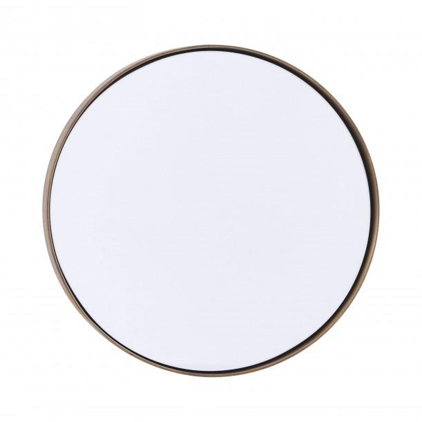 miroir rond reflection bord laiton diam 30 cm house doctor