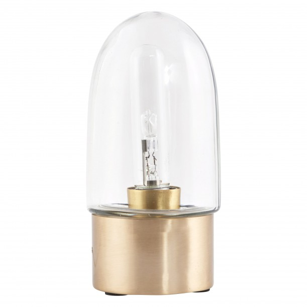 Table Lamp Broad brass and glass House Doctor