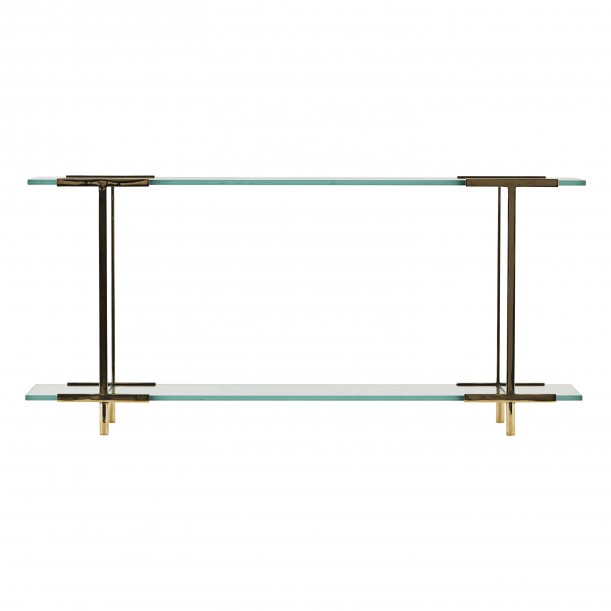 Display Shelf Pure Glass and Brass House Doctor