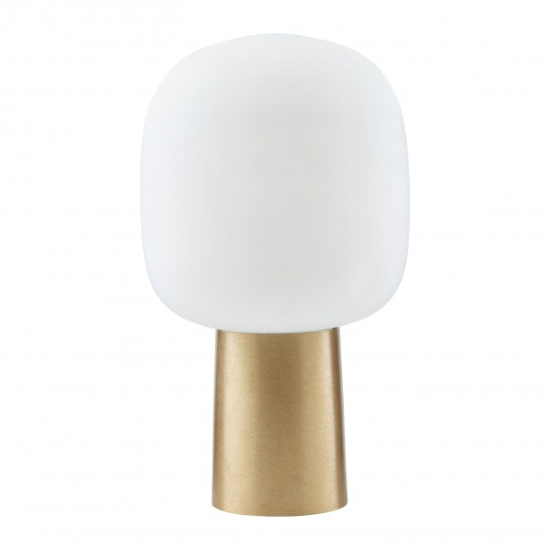 Table Lamp Note brass and white glass House Doctor