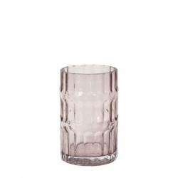 Ondin Vase Pink Glass Small H 18 x Diam 11,5 cm Eno