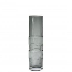 Vase Ondin en Verre Gris Medium H 29 x Diam 8 cm Eno