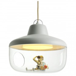 Lampe Suspension Favourite Things Blanche Diam 43 cm Eno