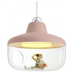 Lampe Suspension Favourite Things Rose Diam 43 cm Eno