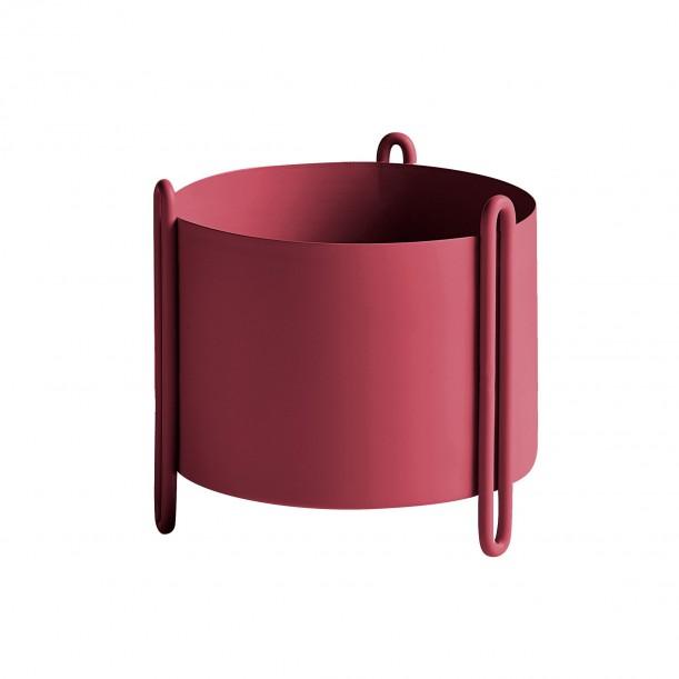 Pidestall Flowerpot Small Red Diam 15 x H 15 cm Woud