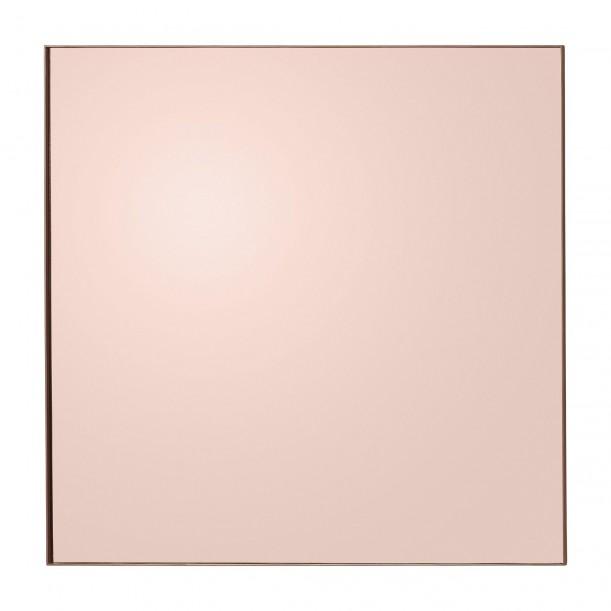 Miroir Mural Quadro Teinté Rose Carré 90 X 90 cm AYTM